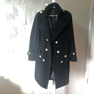 Jackets & Blazers - Double breasted gold button skater coat